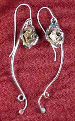 Rose Vine Earrings
