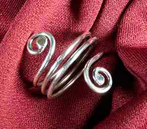 Double Swirl Ring